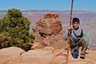Boy posing in Grand Canyon