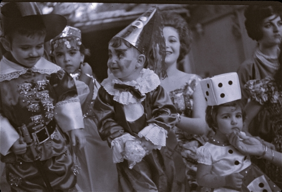 Kids in costumes, Venezuela, early 60's