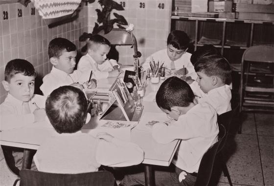 Kinder kids in the mid 60's, Caracas, Venezuela