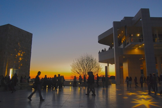 Getty Museum, L.A. by dusk