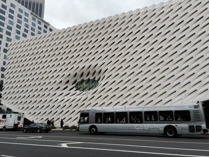 """The Broad"" - modern art museum in downtown Los Angeles"