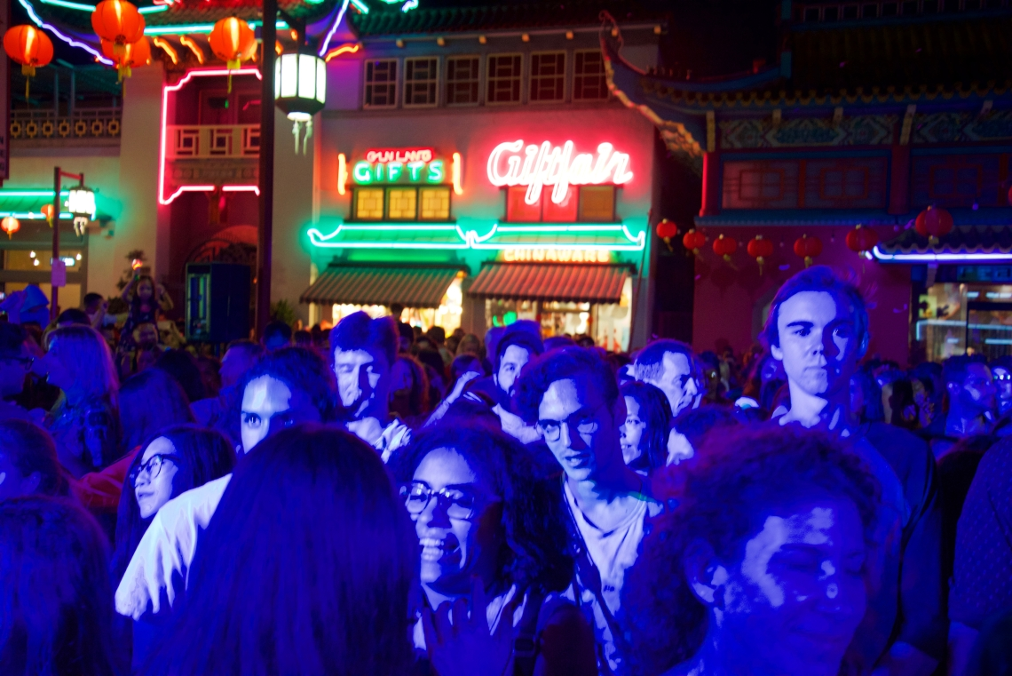 Crowd in Los Ángeles's Chinatown, during a KPCC summer street party.