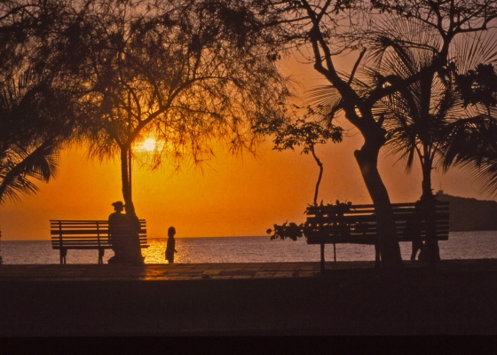 Sundown from El Camellón, Santa Marta, Colombia (1993)