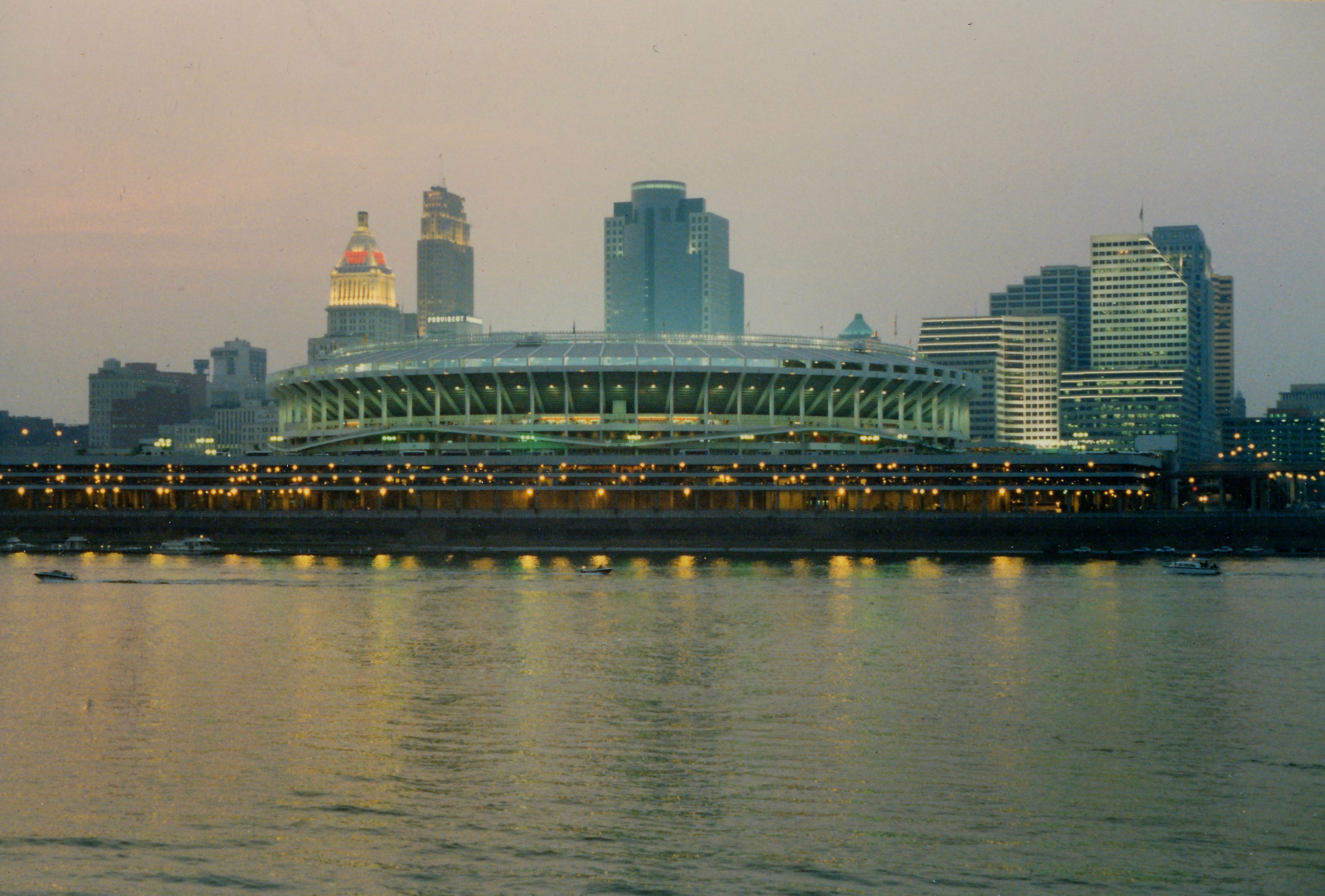 Riverfront Stadium and Cincinnati Skyline, Cincinnati (1991)