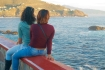 Two young women by the sea