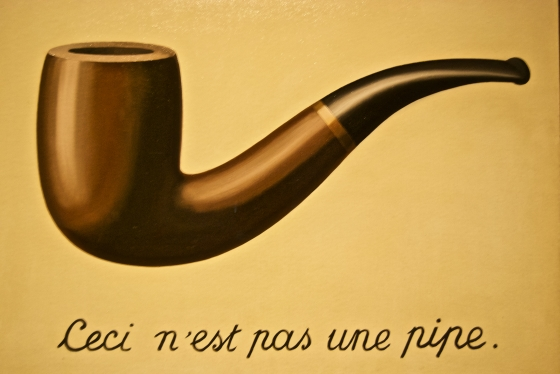 """The treachery of images"", by Rene Margritte, LACMA, Los Angeles"
